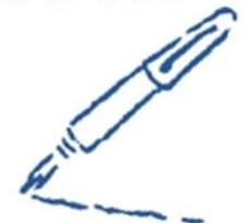 blauer Schreibstift